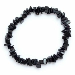 צמיד שבבי קריסטל טורמלין שחור